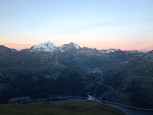 Sunrise over Tignes
